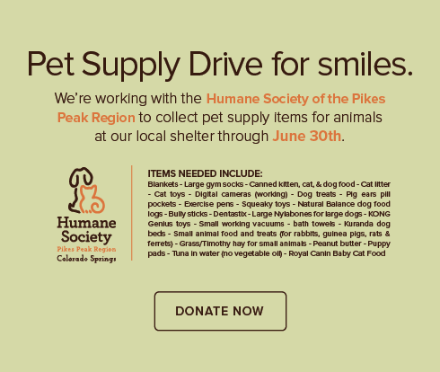 Falcon Landing Dental Group and Orthodontics - Humane Society of the Pikes Peak Region Pet Drive